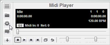 MIDI Player Device Settings